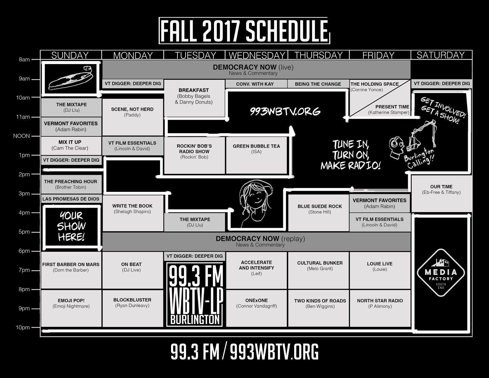 WBTV-LP Fall Schedule 2017